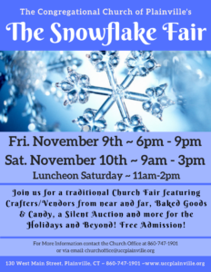 The Snowflake Fair | The Congregational Church of Plainville